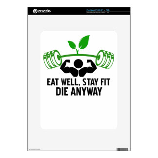 eat well graphic design iPad skins