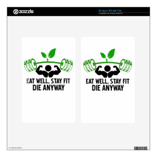 eat well graphic design kindle fire decal