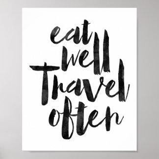 Eat Well Travel Often Poster