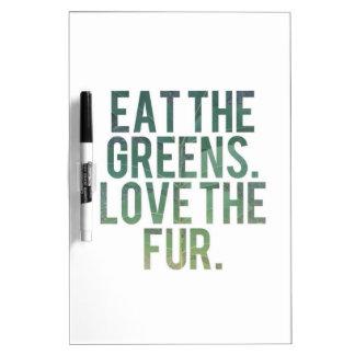 Eat Yo Greens! Dry Erase Whiteboard