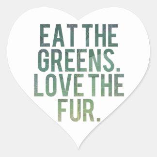 Eat Yo Greens! Heart Sticker