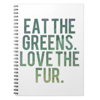 Eat Yo Greens! Spiral Notebook