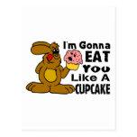 Eat You Like A Cupcake Postcard