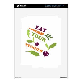 Eat You Veggies iPad 3 Decals