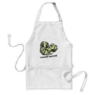 eat your brussels sprouts adult apron