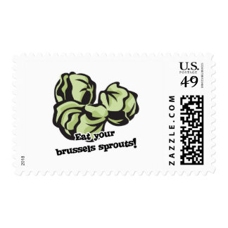 eat your brussels sprouts postage stamp