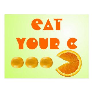 Eat your C postacard Postcard