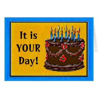 Eat Your Cake #2 (Birthday Card) Card