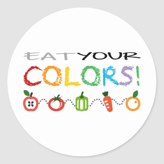 Eat Your Colors! Classic Round Sticker