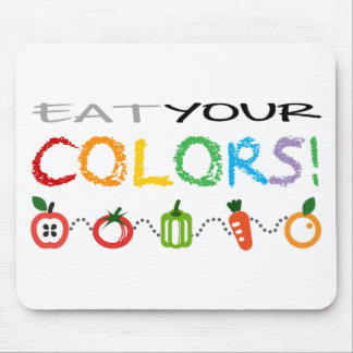 Eat Your Colors Mouse Pad