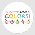 Eat Your Colors! Round Stickers