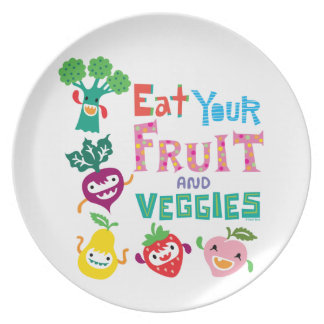 Eat your fruit and Veggies 1 - melamine plate