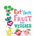Eat your fruit and Veggies - beige shirt