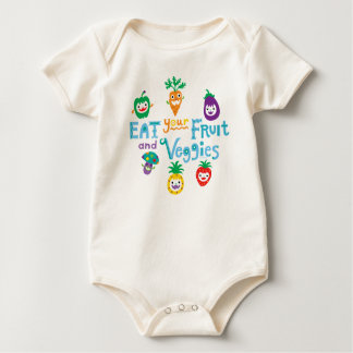 Eat Your fruit and Veggies ll by Andi Bird Bodysuit