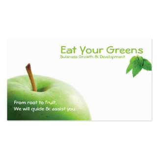 Eat your greens pack of standard business cards