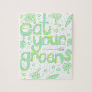 eat your greens jigsaw puzzle