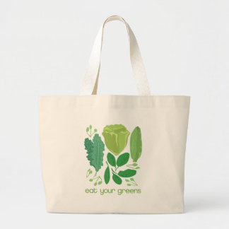 Eat Your Greens Mixed Lettuce Large Tote Bag