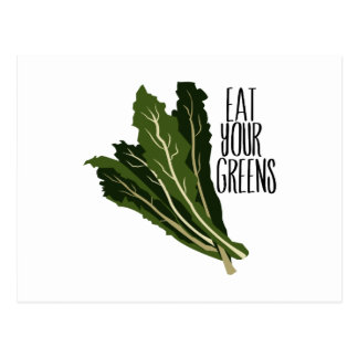 Eat Your Greens Post Cards