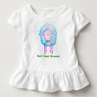 Eat Your Greens Toddler Ruffle Tee