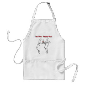 Eat Your Heart Out Adult Apron