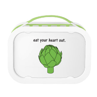 eat your heart out. (artichoke) lunch box