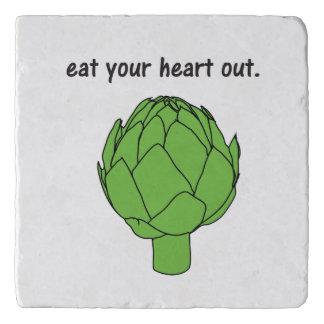 eat your heart out. (artichoke) Stone Trivet