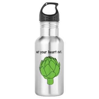 eat your heart out. (artichoke) water bottle