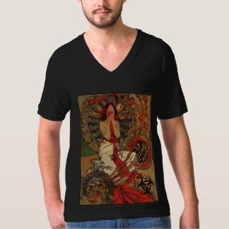 Eat Your Heart Out! Zombie Nouveau (Black V-Neck) T-Shirt