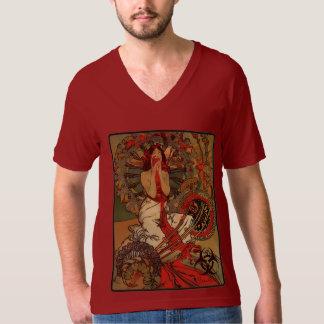 Eat Your Heart Out! Zombie Nouveau (Red V-Neck) T-Shirt