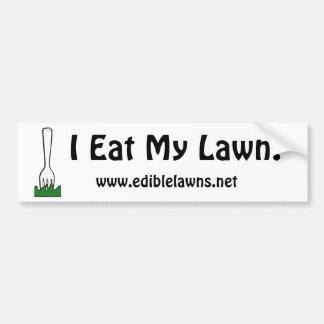 Eat Your Lawn Bumper Sticker