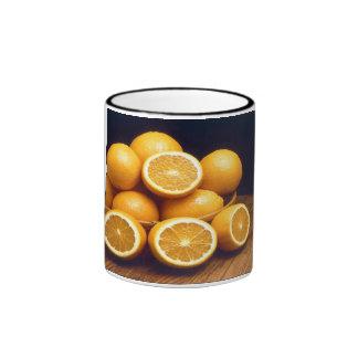 Eat Your Oranges Ringer Coffee Mug