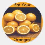 Eat Your Oranges Sticker