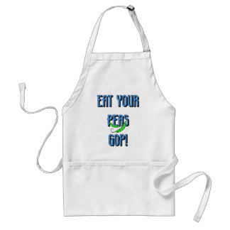 eat your peas GOP Adult Apron