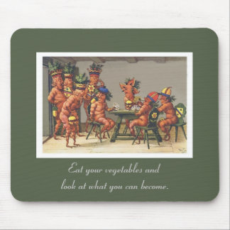 Eat Your Vegetables Funny Vintage Vegetables Mouse Pad