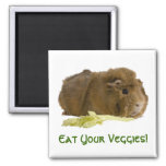 Eat Your Veggies! 2 Inch Square Magnet