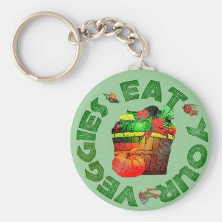 Eat Your Veggies Basic Round Button Keychain
