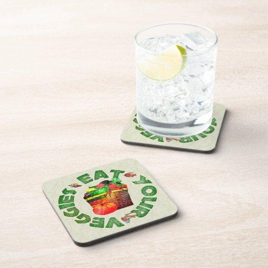 Eat Your Veggies Beverage Coaster