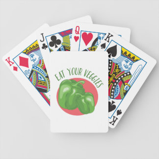 Eat Your Veggies Bicycle Playing Cards