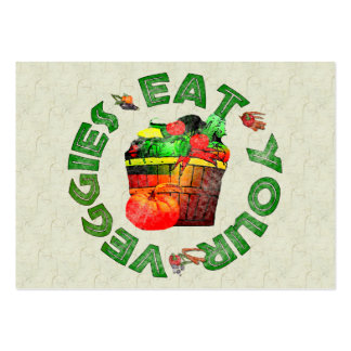 Eat Your Veggies Large Business Cards (Pack Of 100)