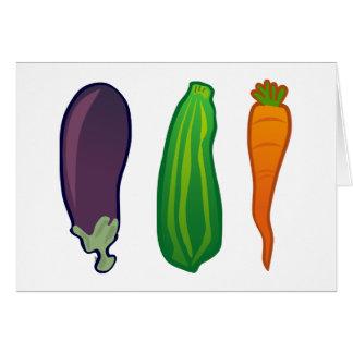 Eat Your Veggies Carrot Zucchini Eggplant Card