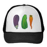 Eat Your Veggies Carrot Zucchini Eggplant Hat