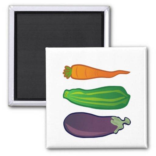 Eat Your Veggies Carrot Zucchini Eggplant Magnet