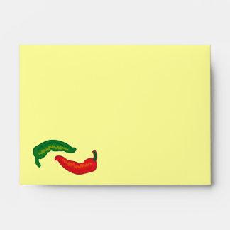 Eat Your Veggies Chili Jalapeño Pattern Envelope