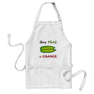 Eat Your Veggies Give PEAS a CHANCE Apron