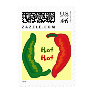 Eat Your Veggies Hot Chili Jalapeño Peppers Stamp