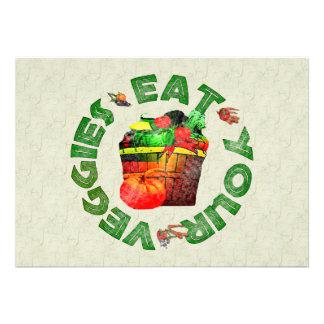 Eat Your Veggies Custom Invites