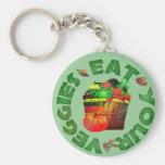 Eat Your Veggies Key Chain