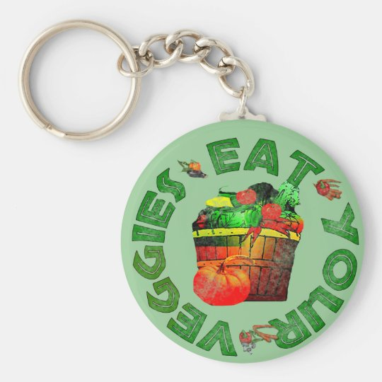 Eat Your Veggies Keychain