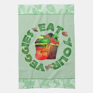 Eat Your Veggies Hand Towel