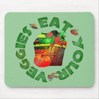 Eat Your Veggies Mouse Pad